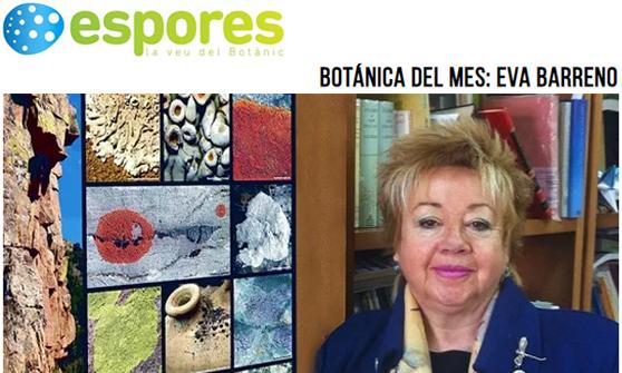 Botánica del mes: Eva Barreno. Revista Espores. La veu del Botànic