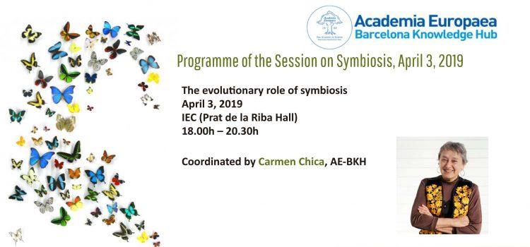 "The evolutionary role of symbiosis. Eva Barreno ""Lichens: The epitome of the evolutionary role of symbiosis"""
